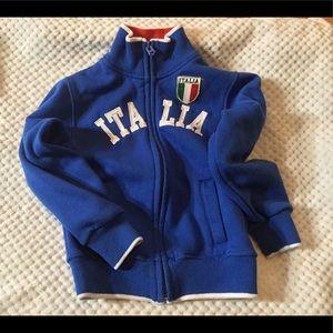 Deep blue light fleece Italia Jacket size 3/4